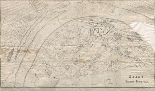 1875 План Нижнего Новгорода