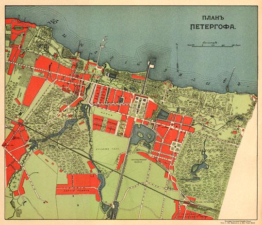 1915 План Петергофа