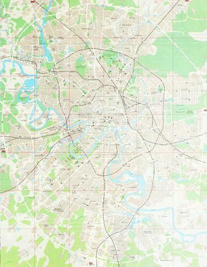 Москва. Туристический план с