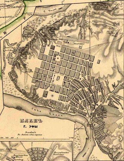Карта Г Уфы