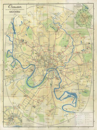 1964 Схема маршрутов