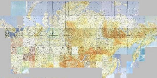 1975 Карта мира 1:1,000,000