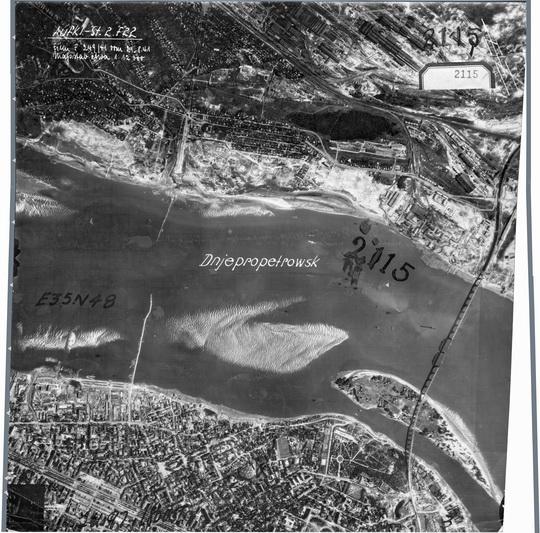 1941 Немецкая аэрофотосъемка Днепропетровска