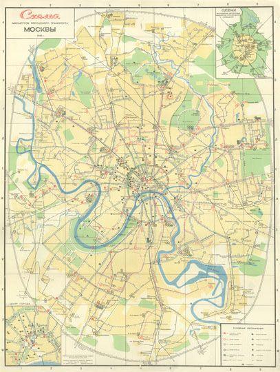 1965 Схема маршрутов