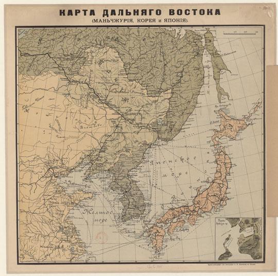 Карта Дальнего Востока % Map of Far East История Москвы в картинках % Moscow history in pictures.