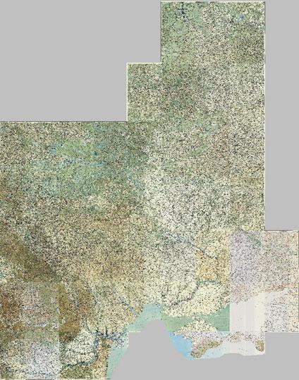1918 Немецкая военная карта центра России