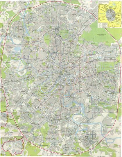 Схема центральной части города