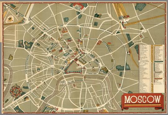 схема улиц % Moscow,