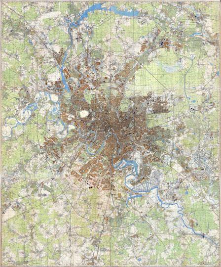 1968 Карта Москвы