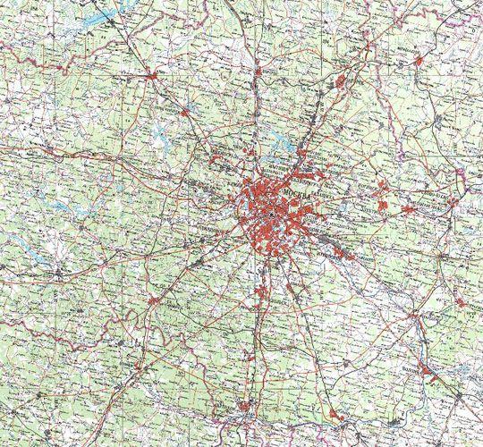 От Троицкого до Троицка на картах 1766.