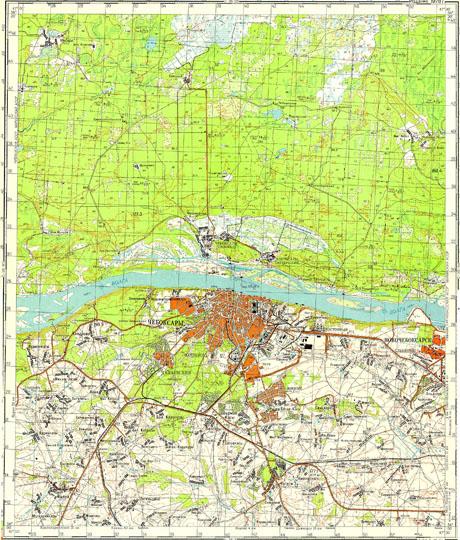 Карта окрестностей Чебоксар