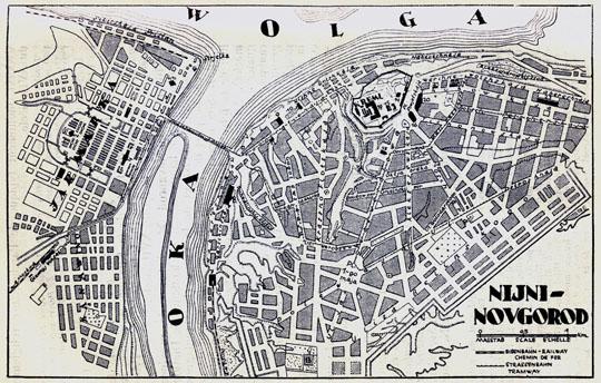 1928 План Нижнего Новгорода