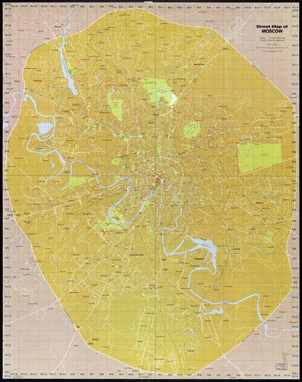 Карта с условной координатной