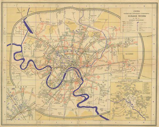 1961 Схема маршрутов