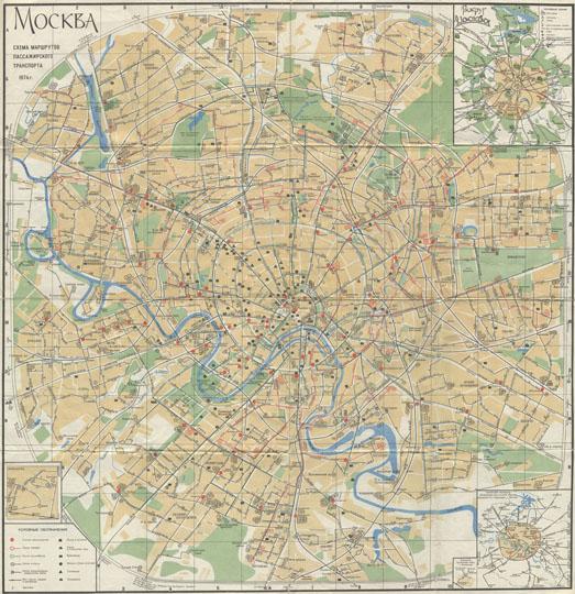 1974 Схема маршрутов