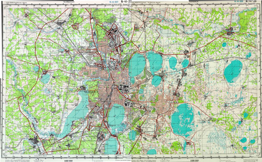 челябинска карта фото