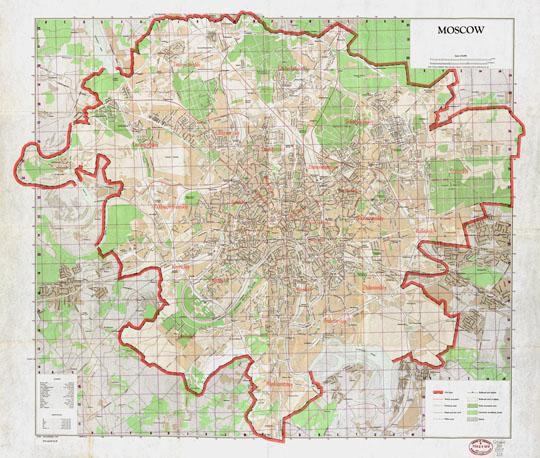 Схематичная карта Москвы