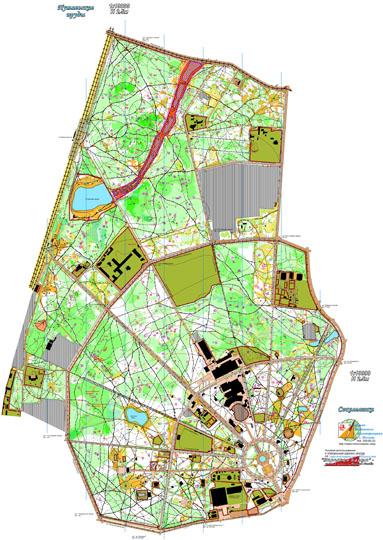 Карта Парка Сокольники, 2007