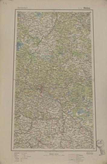 1918 Немецкая военная карта Восточной Европы