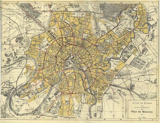 1897 Plan de Moscou