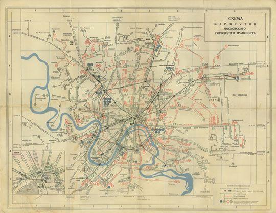 1959 Схема маршрутов