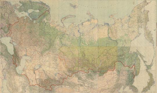 1946 Подробная карта СССР