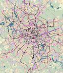 Вот как выглядит общая схема скоростного транспорта, включающая расширение линий действующей системы метрополитена...