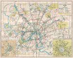 Схема маршрутов городского транспорта%City transportation map История Москвы в картинках Старые карты Москвы и других...