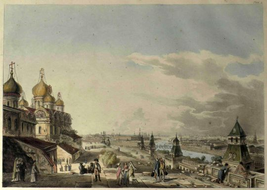 Старые карты Москвы - View of Moscow, Taken from the Imperial Palace