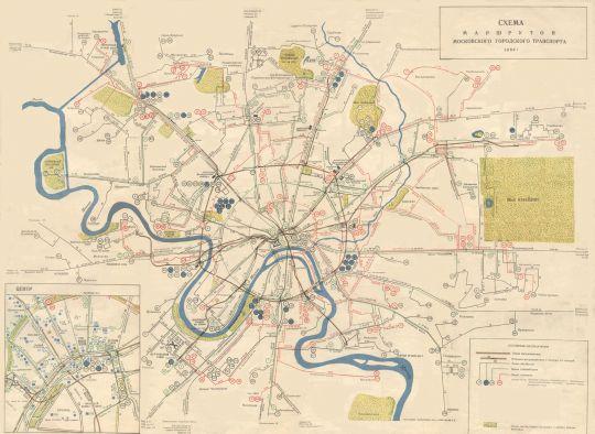 1960 Схема маршрутов